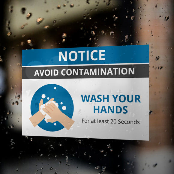 Wash Your Hands Window Decals / Sticker  - 02
