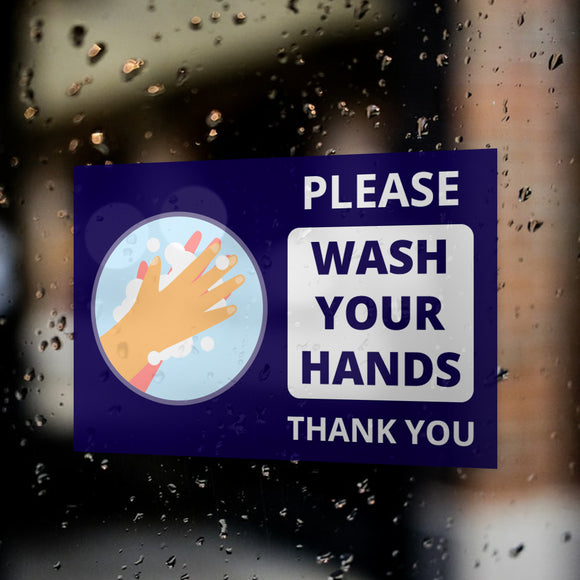 Wash Your Hands Window Decals / Sticker  - 01