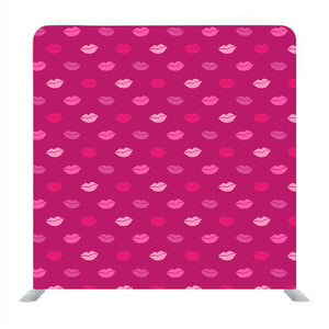 Watercolor lips pattern with colored lipstick kisses Media wall