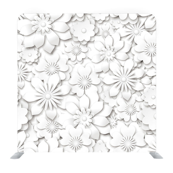 White 3D Effect Media wall