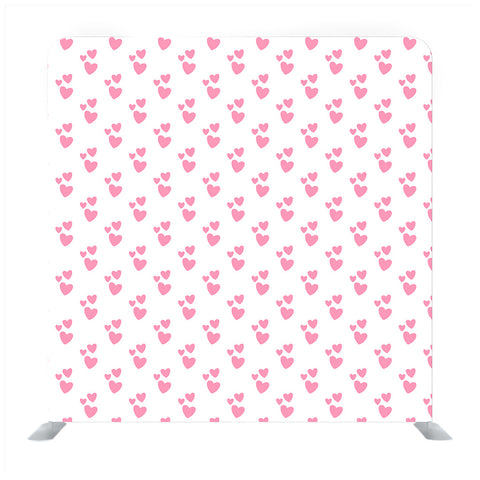 White Background With Pink Heart Media wall