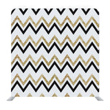 White  Zigzag Pattern with Glittery Gold and Silver Effect Backdrop