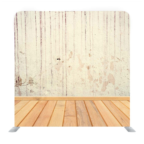 White Wall with Wooden Floor surface Media Wall