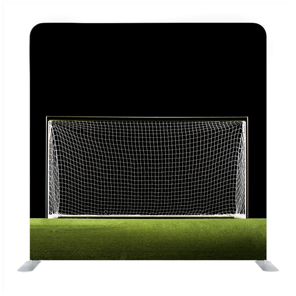 Wide Angle photo of Soccer Goal or Football Goal Background Media Wall
