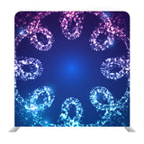 Winter Snowflakes On Colorful Background Media Wall