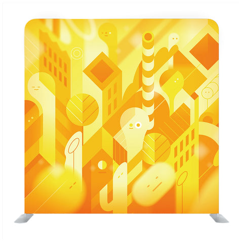 Yellow Orange Light Media wall