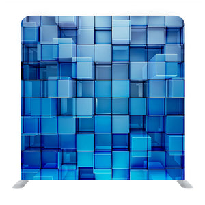 Blue 3D Cubes Media Wall