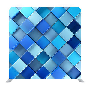 Blue Shade Multi Colored Squared Media Wall