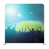 Crowded Football Stadium Background Media Wall
