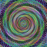 Multicoloured Wired Spiral Swirl Print Photography Backdrop