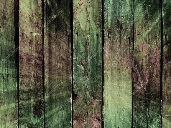 Vintage Coloful Wooden Wall Print Photography Backdrop