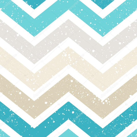 Blue and Brown Chevron Print Photography Backdrop