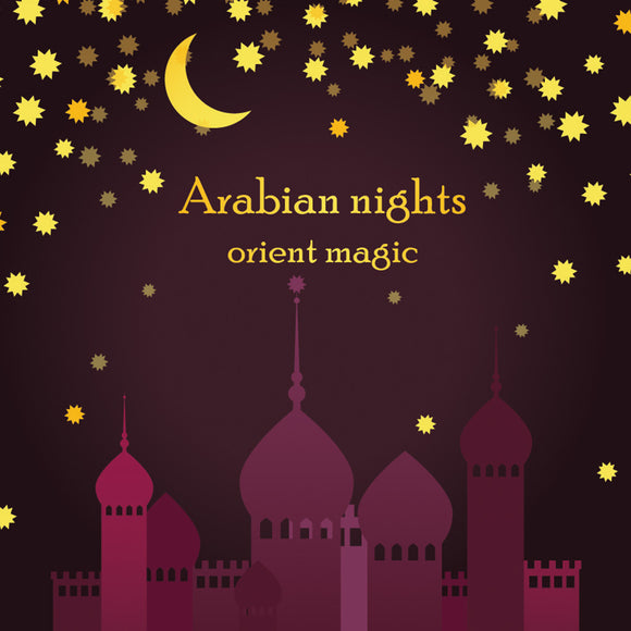 Invitation Template for Arabian Night Party Background
