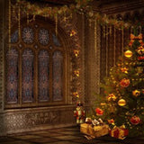 Palace Christmas Photo Decorative Print Photography Backdrop