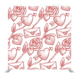 Pattern With Flowers And Envelop Background Media Wall