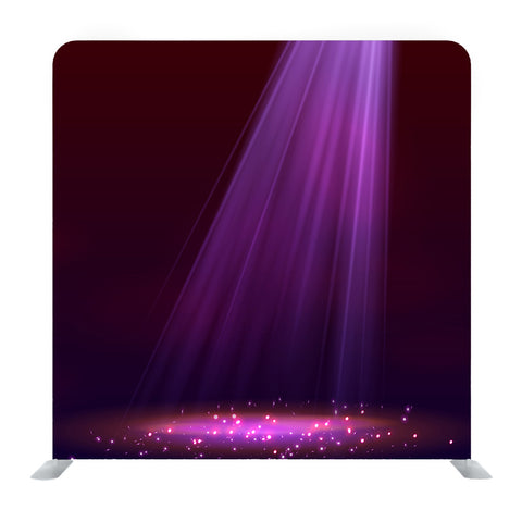 Purple Spotlight On Stage With Smoke And Light Media Wall