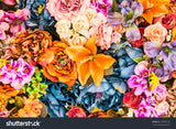 Vintage Effect Style Floral Print Photography Backdrop