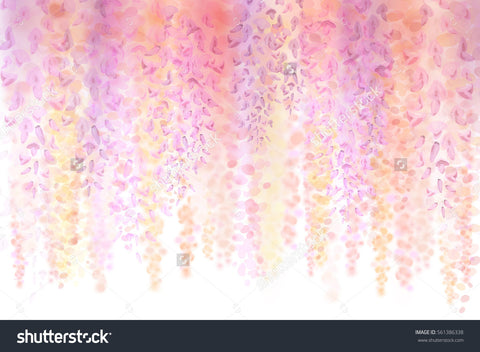 Confetti Flowers Party Print Photography Backdrop
