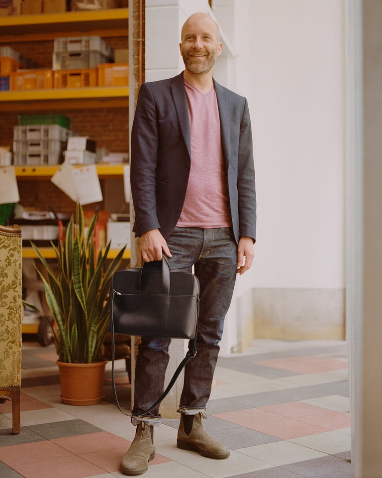 Meet Stefan, The mentor behind our men's briefcase