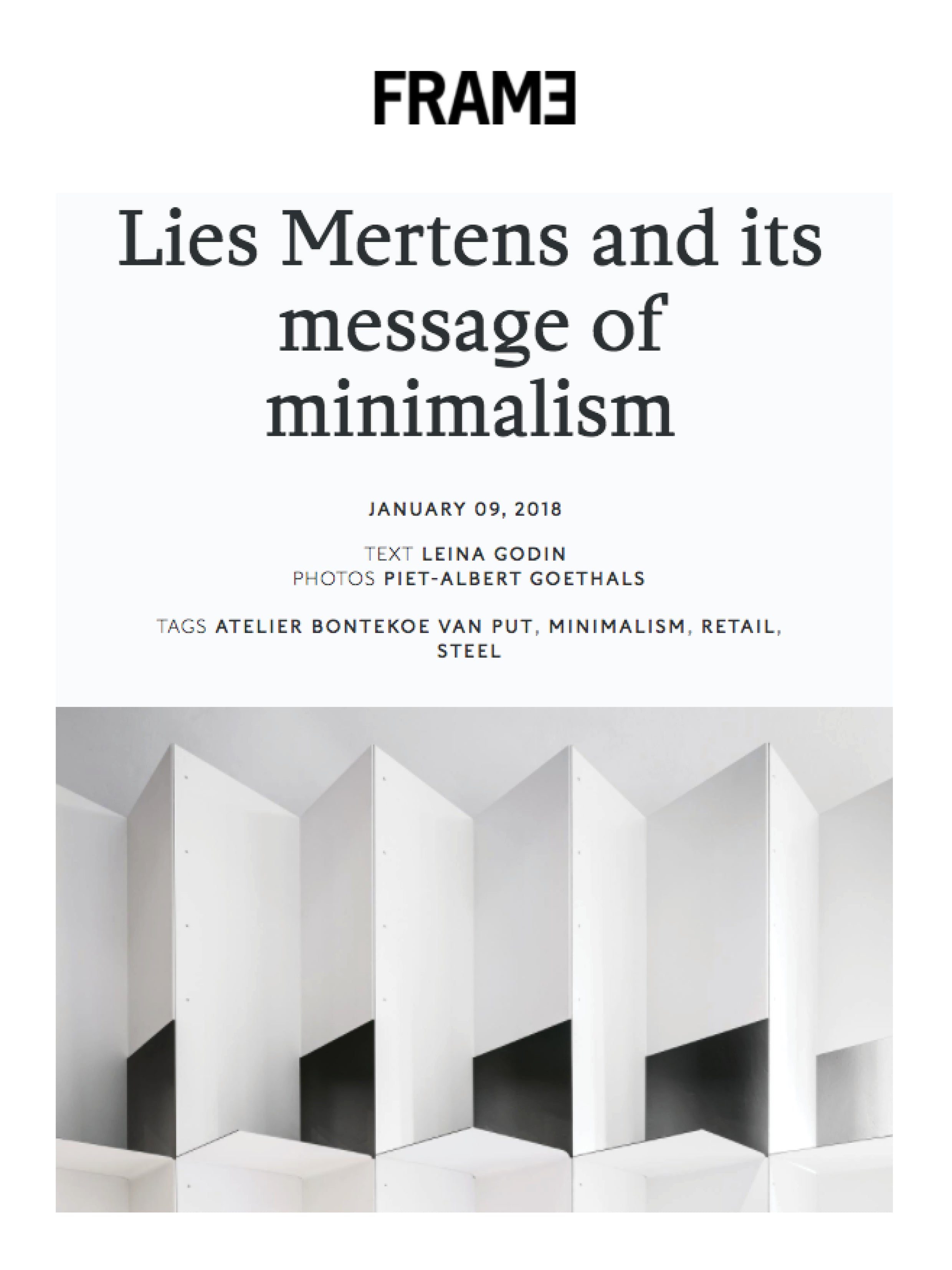 Lies mertens and its message of minimalism
