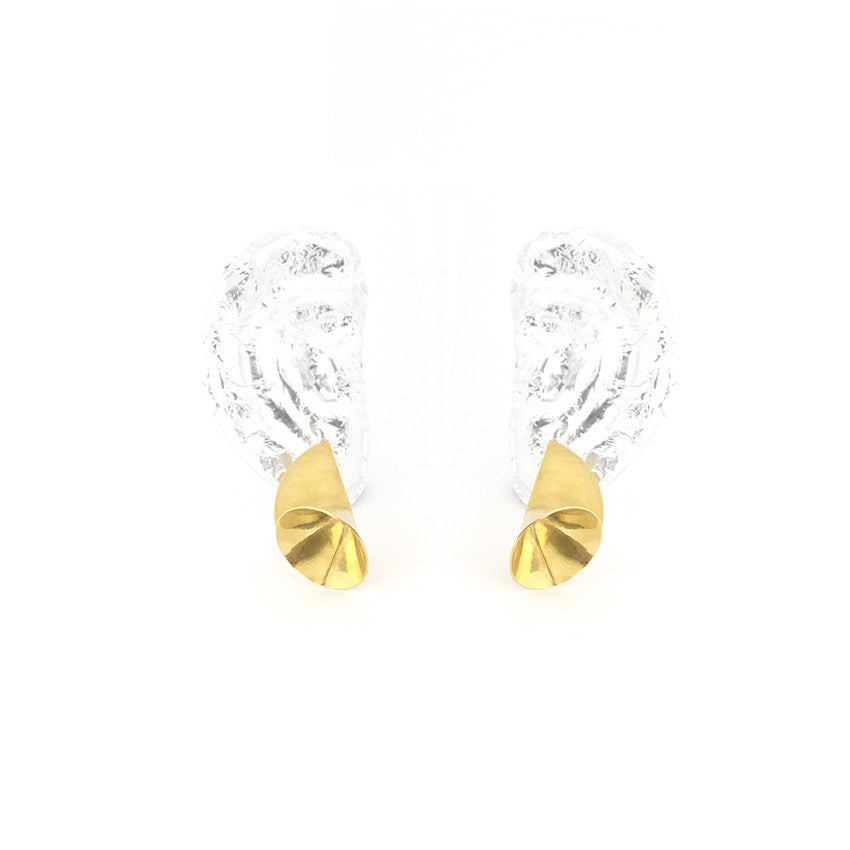 Gold Sprite Earrings by Lion Studio
