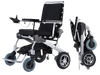 folding electric wheelchair, electric powered wheelchair, wide wheelchairs, folding battery powered wheelchair easy to transport