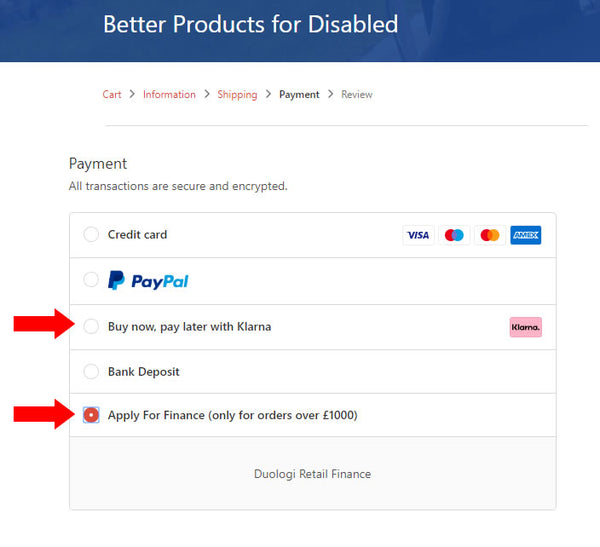 payment options BP4D