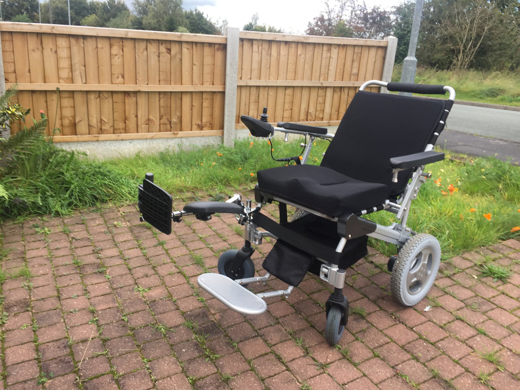 dotty reclining folding electric wheelchair supplied by BP4D