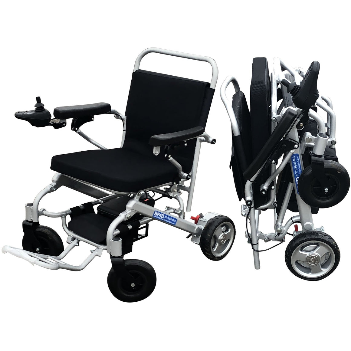 F6 lightweight folding powerchair supplied by BP4D