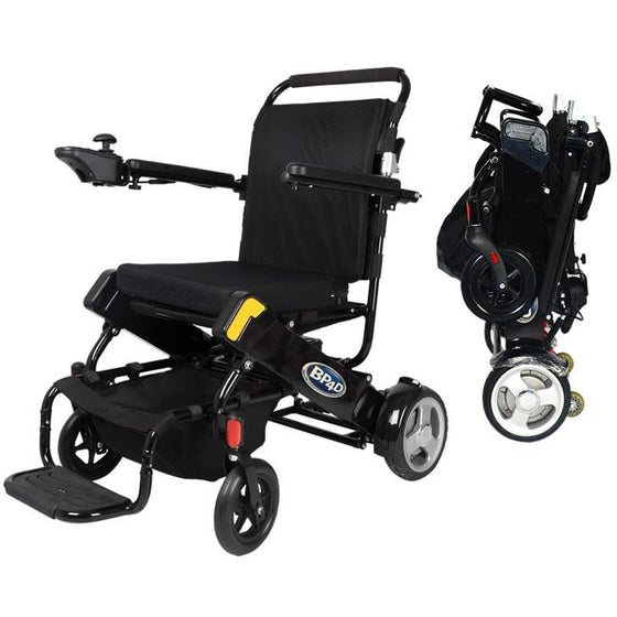 06J Black electric folding wheelchair