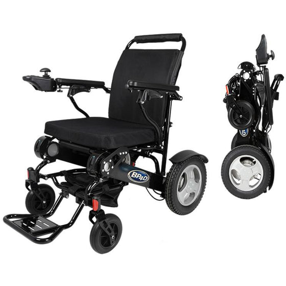 10j black Folding Electric Wheelchair from better products for disabled