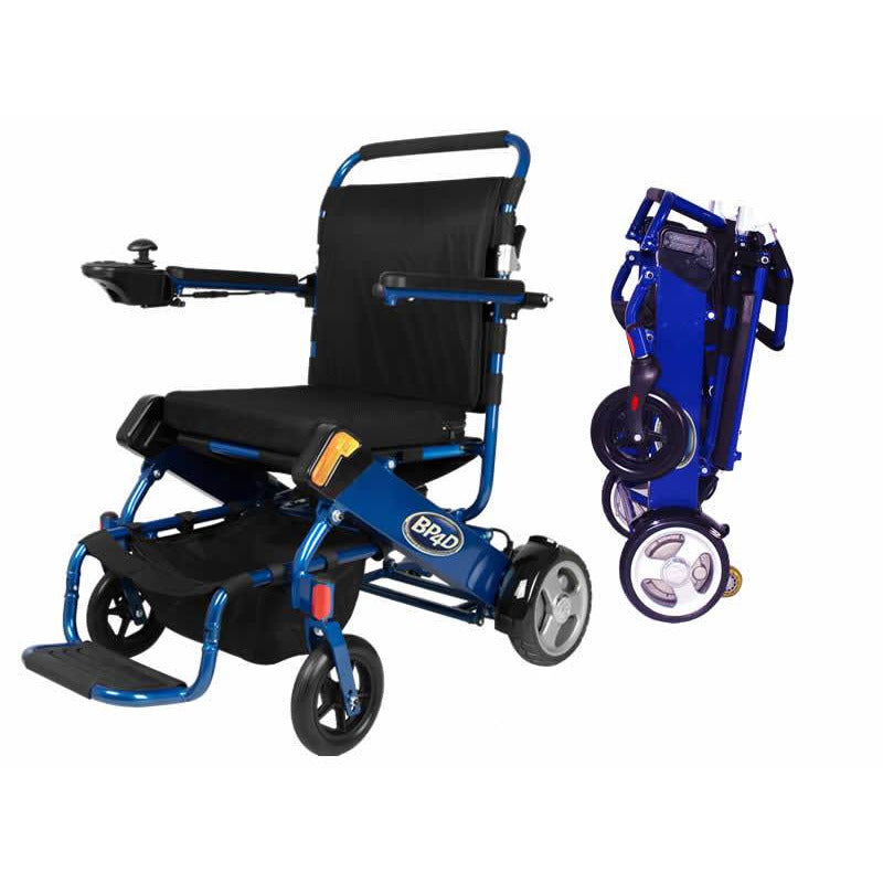 06j blue electric folding wheelchair, better products 4 disabled