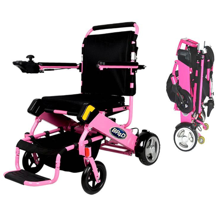 06j pink electric folding wheelchair. better products 4 disabled