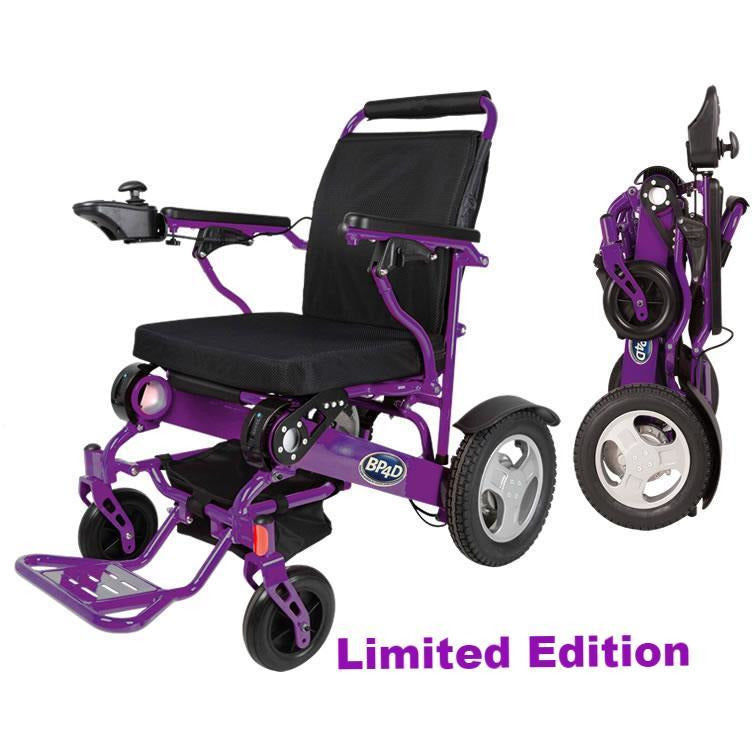 10j purple wide folding electric wheelchair -better products for disabled