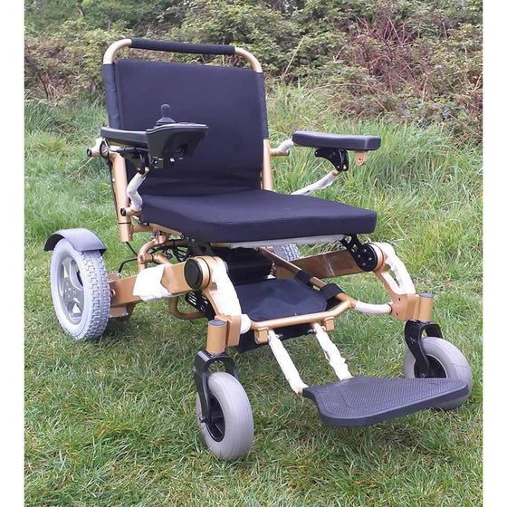 F19 FOLDING ELECTRIC WHEELCHAIR BY BP4D carry 31.5 stone