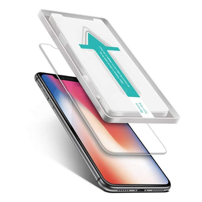 Power Theory iPhone XR Screen Protector [1-Pack] Premium Tempered Glass Screen Protectors with Easy App Install Kit for Apple iPhoneXR