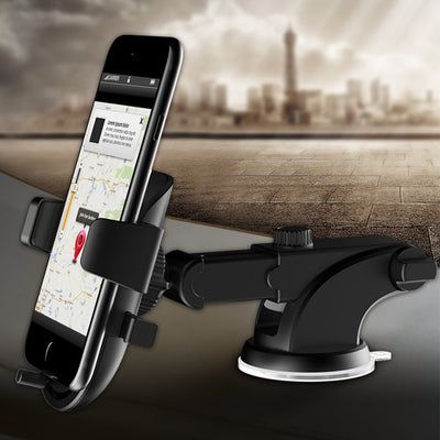 Car Mobile Phone Holder - Dashboard and Windshield Mobile Phone Holder for iPhone XS Max XR XS/X 8 7 Plus 6 SE Samsung Galaxy S5 S6 S7 and other Smartphones