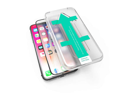 Power Theory iPhone X/XS Screen Protector [3D Curved Full Cover] - Premium Tempered Glass Screen Protector with Easy App Install Kit for Apple iPhoneX/iPhoneXS
