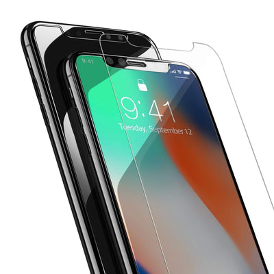 Power Theory iPhone X/XS Screen Protector [2-Pack] Premium Tempered Glass Screen Protectors with Easy App Install Kit for Apple iPhoneX & iPhoneXS