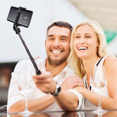 Power Theory Bluetooth Selfie Stick Tripod with Remote - Selfiestick for Samsung Galaxy S10 S9 S9+ S8 S7 and iPhone XS Max X XR 8 7 Plus 6s 6 and all Smartphones, Wireless Selfi Monopod
