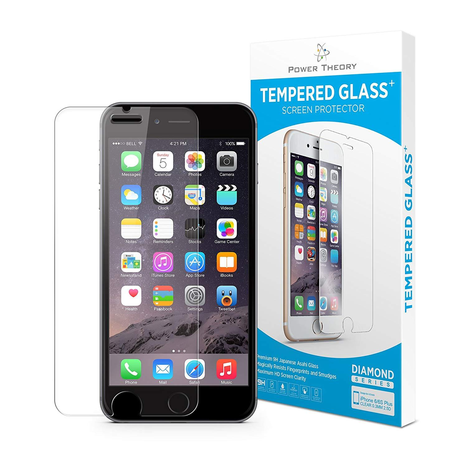 Power Theory iPhone 6/6s Screen Protectors [1-Pack] Premium Tempered Glass Screen Protector with Easy App Install Kit for Apple iPhone6s/iPhone6