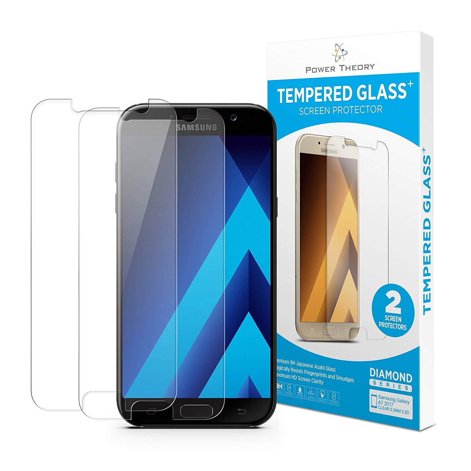 Samsung Galaxy S6 Tempered Glass (Pack of 2), Protective Glass, Japanese 9H Tempered HD Screen Protector, Glass Display Protection Film, Hard Glass Screen Protector, Tempered Glass Film, Mobile Phone Glass Screen Protector, Tempered Film