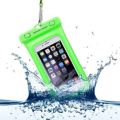 Universal Waterproof Phone Case [Floatable] [IPX8 Certified], Phone Pouch Dry Bag for iPhone X/7/7 Plus/6s/6 Plus, Samsung S6/S7/S8 Edge & more with Locking Carabiner & Neck Strap by Power Theory