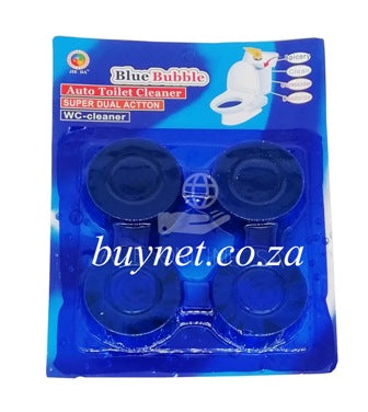 4 Piece Blue Bubble Toilet Cleaner