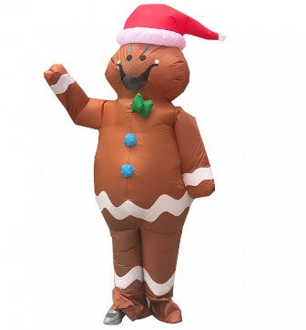 Giant Gingerbread Man Inflatable Costume