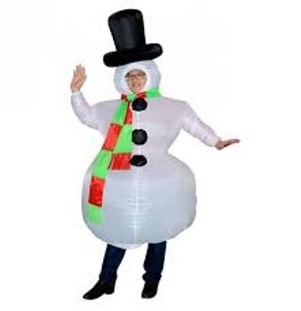 Giant Snowman Inflatable Costume