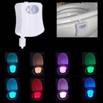 Toilet Night Light 8 Color LED Motion Activated Sensor