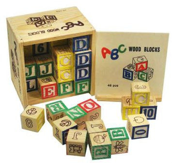ABC Wooden Blocks 48 Piece