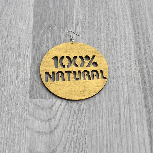 100% Natural Earring - Gold, earring - Rufina Designs