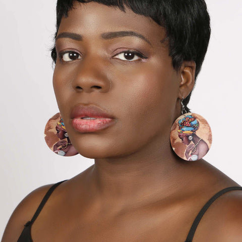 African Head Wrap earring, earring, Rufina, [shop_name,- Rufina